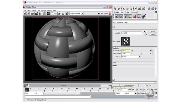Bump mapping : Maya 8 Essential Training