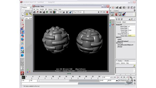 Displacement mapping: Maya 8 Essential Training