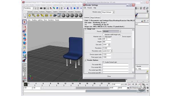 Types of renderers and render globals: Maya 8 Essential Training