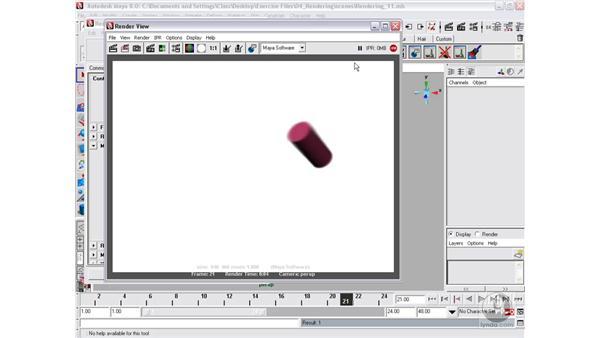 Motion blur: Maya 8 Essential Training