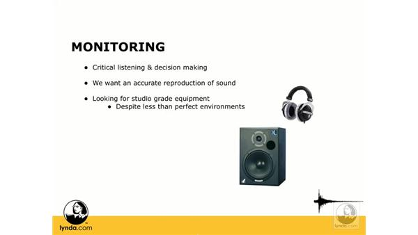 What is monitoring?: Digital Audio Principles
