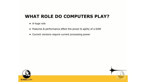 What role do computers play?: Digital Audio Principles
