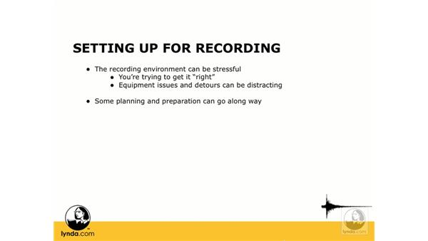 Planning for recording: Digital Audio Principles