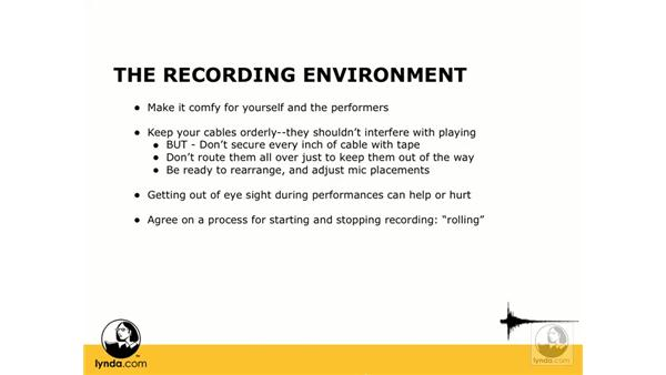 The recording environment: Digital Audio Principles