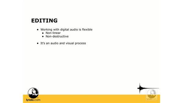 What is editing?: Digital Audio Principles