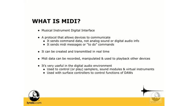 What is MIDI?: Digital Audio Principles