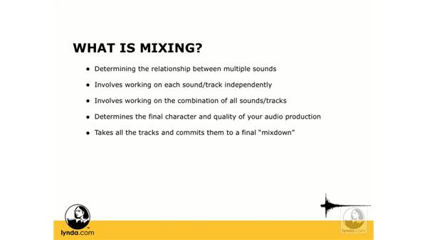 What is mixing?: Digital Audio Principles