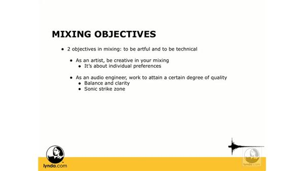 Some common objectives: Digital Audio Principles