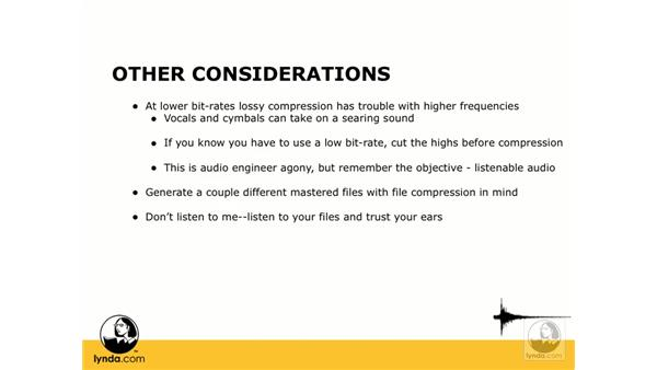 Other adjustments and considerations: Digital Audio Principles