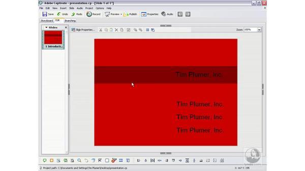 Creating a custom background: Captivate 2 Essential Training
