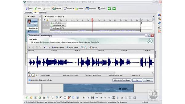 Editing audio: Captivate 2 Essential Training