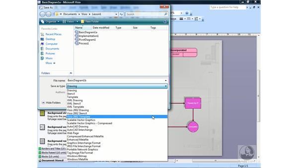 Saving Visio documents: Visio 2007 Essential Training