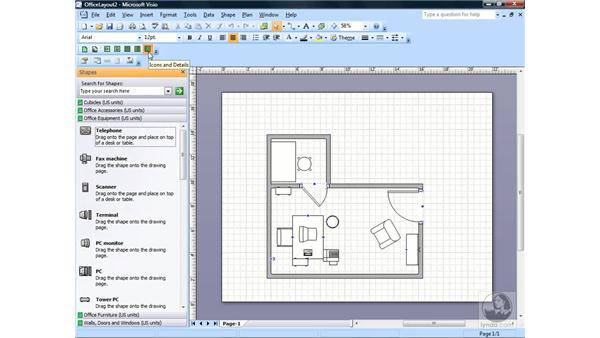 Using the Stencil toolbar: Visio 2007 Essential Training