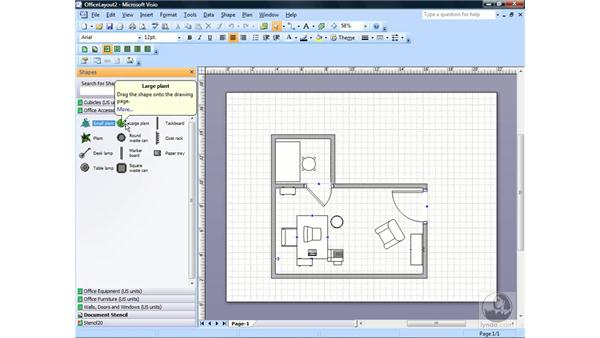 Creating a new stencil: Visio 2007 Essential Training