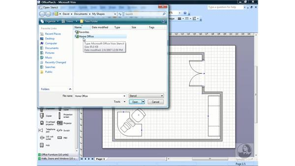 Merging shapes to create new shapes : Visio 2007 Essential Training