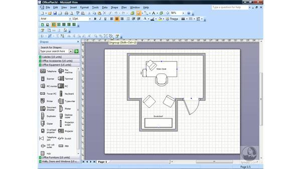 Ordering shapes: Visio 2007 Essential Training