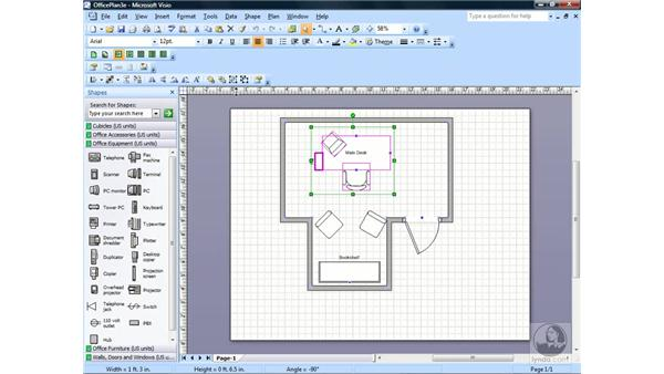 Grouping and ungrouping shapes: Visio 2007 Essential Training
