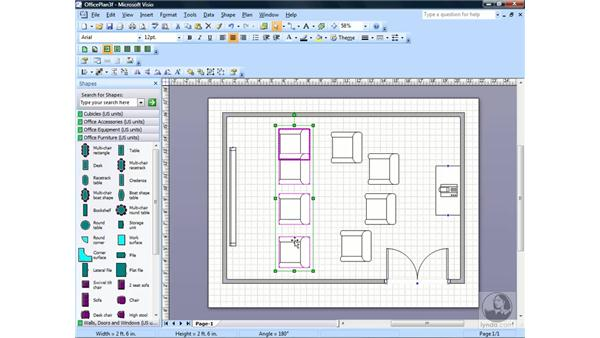 Aligning and distributing shapes: Visio 2007 Essential Training