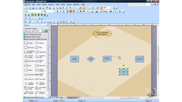 Using AutoConnect: Visio 2007 Essential Training