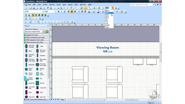 Adding and formatting text: Visio 2007 Essential Training