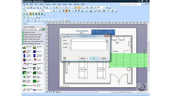 Creating tables: Visio 2007 Essential Training