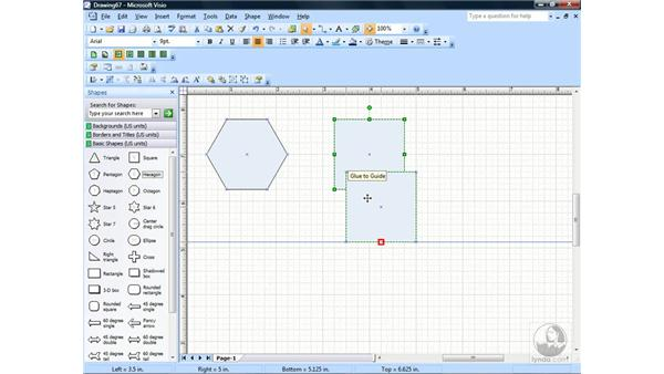 Snapping and gluing to items: Visio 2007 Essential Training