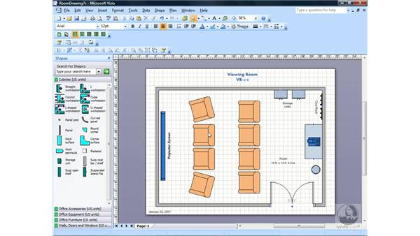 Changing layer properties: Visio 2007 Essential Training