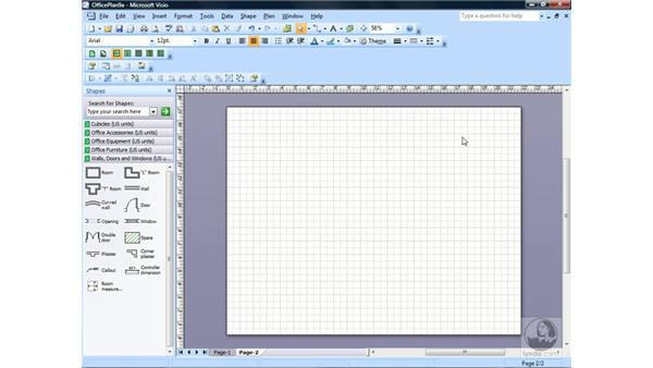 Inserting a new page: Visio 2007 Essential Training