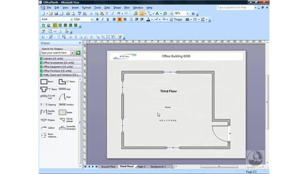 Renaming, reordering, and deleting pages: Visio 2007 Essential Training