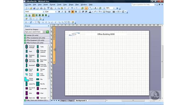 Using the Drawing Explorer window: Visio 2007 Essential Training