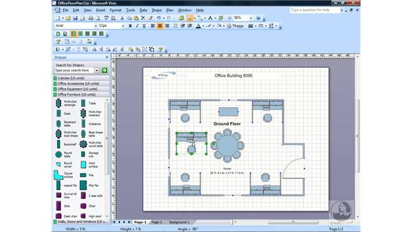 Copying, cutting, and pasting Items: Visio 2007 Essential Training