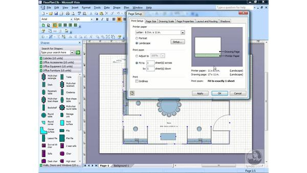 Using Print Zoom: Visio 2007 Essential Training