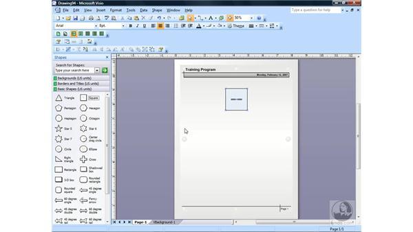 Creating a basic diagram: Visio 2007 Essential Training