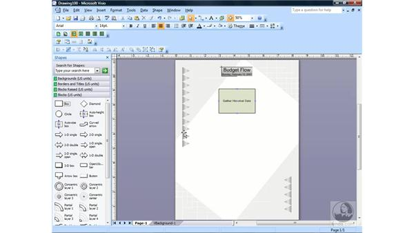 Creating a block diagram: Visio 2007 Essential Training