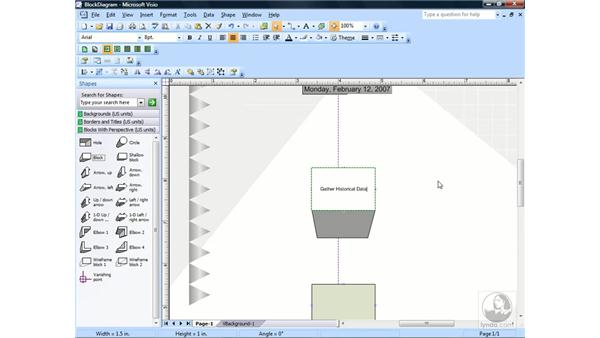Creating a block diagram with perspective: Visio 2007 Essential Training