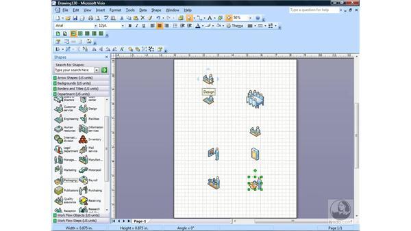 Creating a workflow diagram: Visio 2007 Essential Training