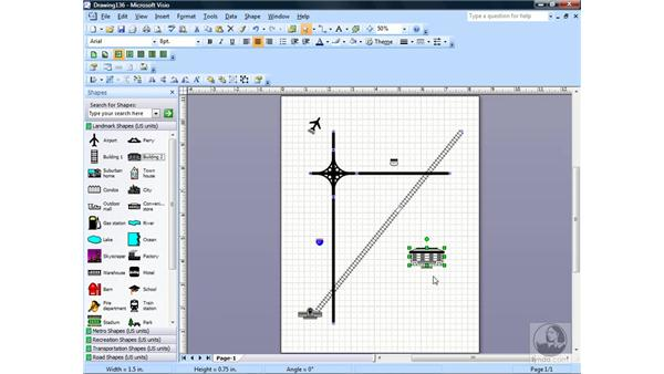 Creating a directional map: Visio 2007 Essential Training