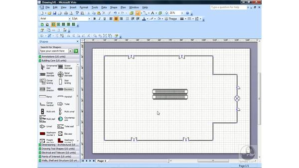 Creating a floor plan: Visio 2007 Essential Training