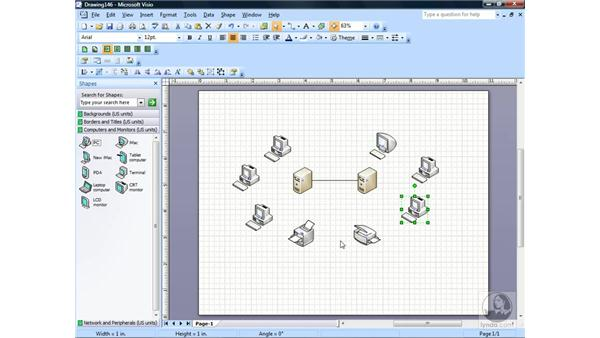 Creating a network diagram: Visio 2007 Essential Training