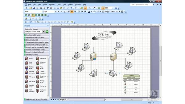Creating detailed network diagrams: Visio 2007 Essential Training