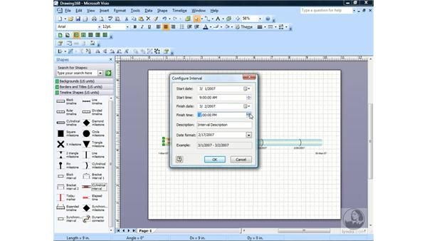Creating a timeline: Visio 2007 Essential Training