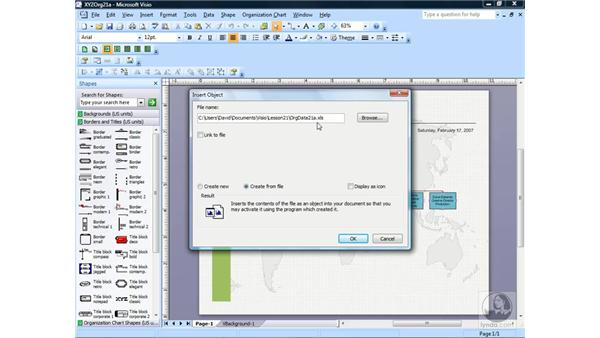 Linking and embedding MS Office documents in diagrams: Visio 2007 Essential Training