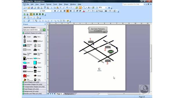 Delivering a slide show in Visio: Visio 2007 Essential Training