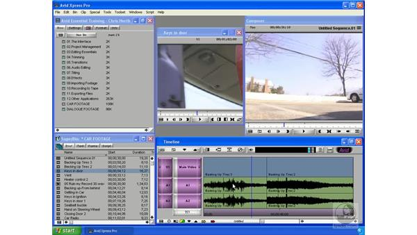 The timeline: Avid Xpress Pro 5.5 Essential Editing