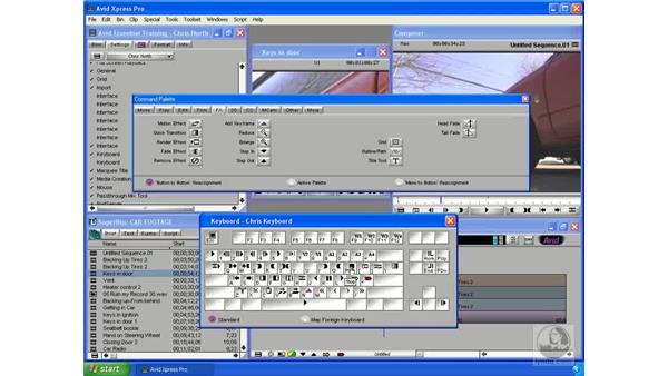 Assigning hotkeys: Avid Xpress Pro 5.5 Essential Editing