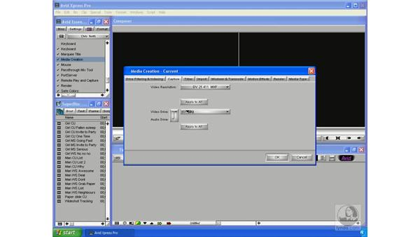 Media creation settings: Avid Xpress Pro 5.5 Essential Editing