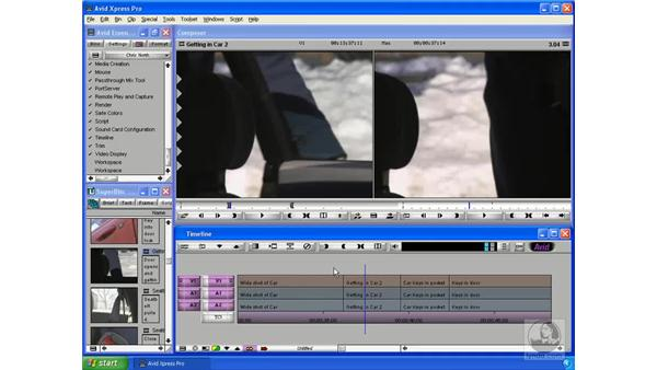 Moving clips around on the timeline: Avid Xpress Pro 5.5 Essential Editing