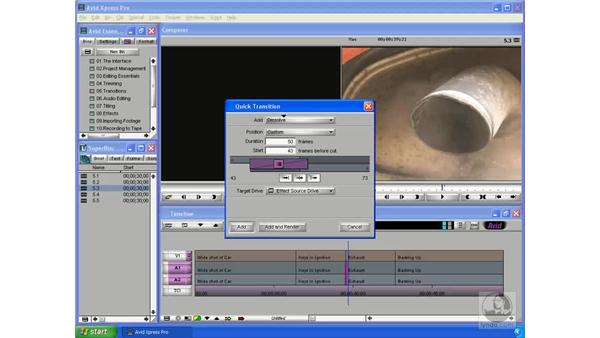 Creating audio transitions: Avid Xpress Pro 5.5 Essential Editing