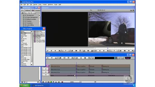 Other transitions: Avid Xpress Pro 5.5 Essential Editing