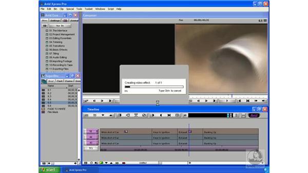 Rendering principles: Avid Xpress Pro 5.5 Essential Editing